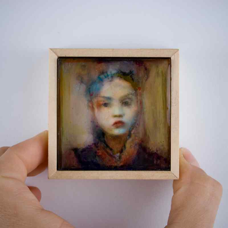 Contemporary Figurative Artworks by Shelly Voorhies, Brooklyn Artist & Jewelry Maker and Owner of her own Jewelry Line!