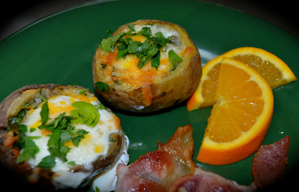 Stuffed Potatoes with Egg ~ A New Favorite at the Old Parkdale Inn Bed and Breakfast