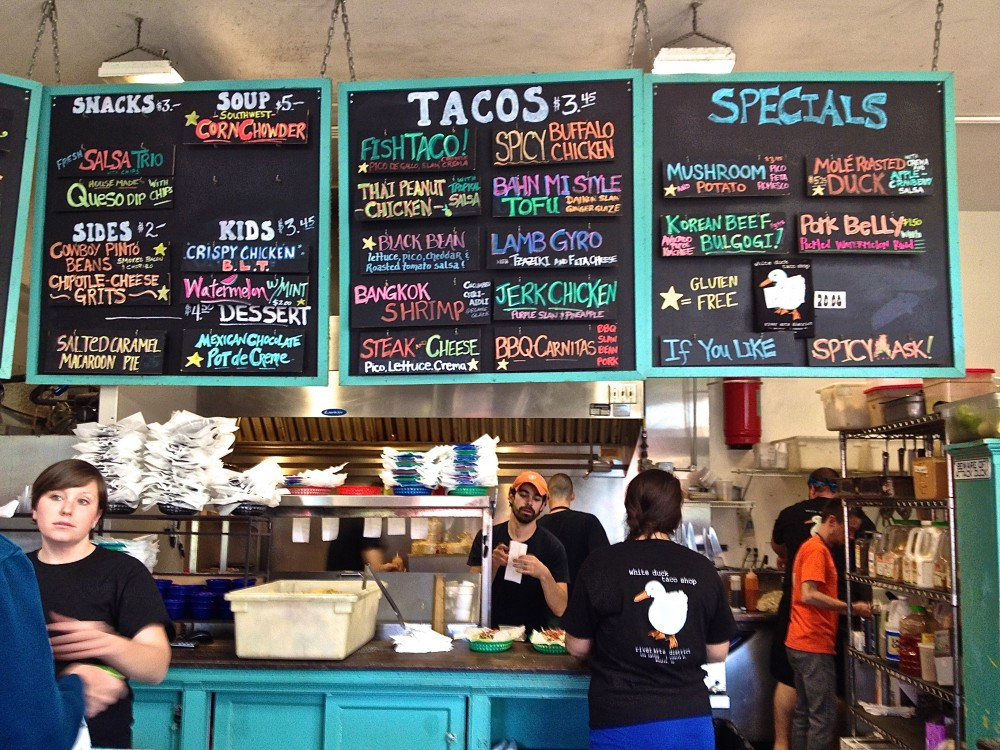 White Duck Tacos in Asheville's Hot River Arts District