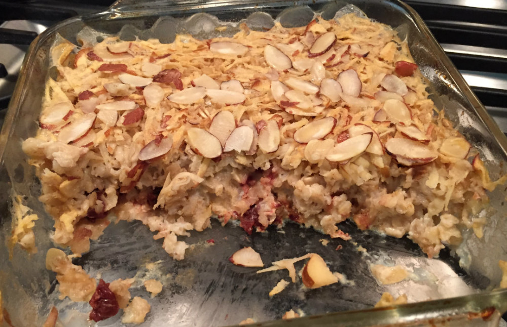 Michigan Baked Oatmeal is easy to make ahead for breakfast