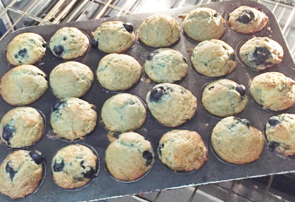 Ann Arbor/Ypsilanti area Parish House Inn recipe for Easy Banana Blueberry Muffins