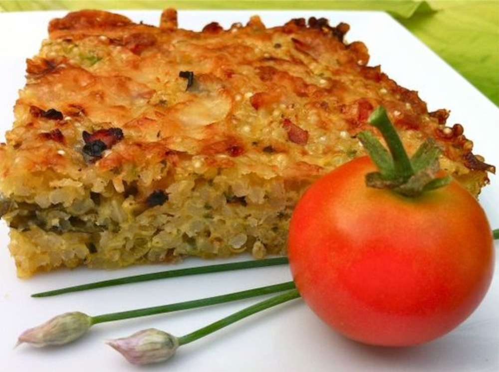 Quinoa, Cheddar, and Zucchini Bake Breakfast Recipe