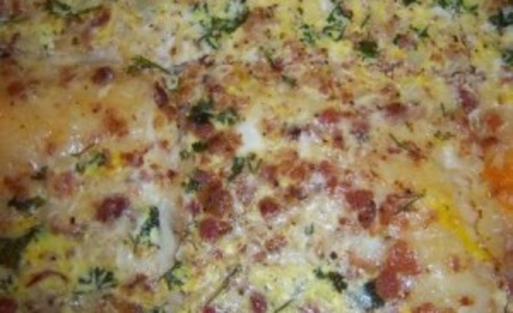Crescent Roll Bacon Swiss Quiche