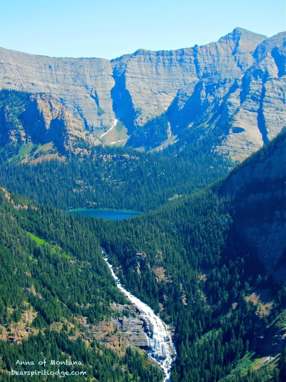Mission Mountains, Waterfalls & Lucifer Lake  &  Bear Spirit Lodge B&B