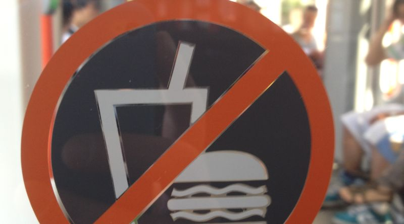 Bybanen prohibited sign