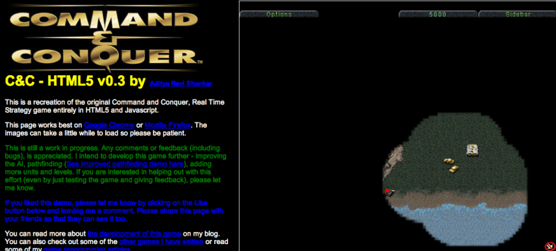 Command & Conquer html5