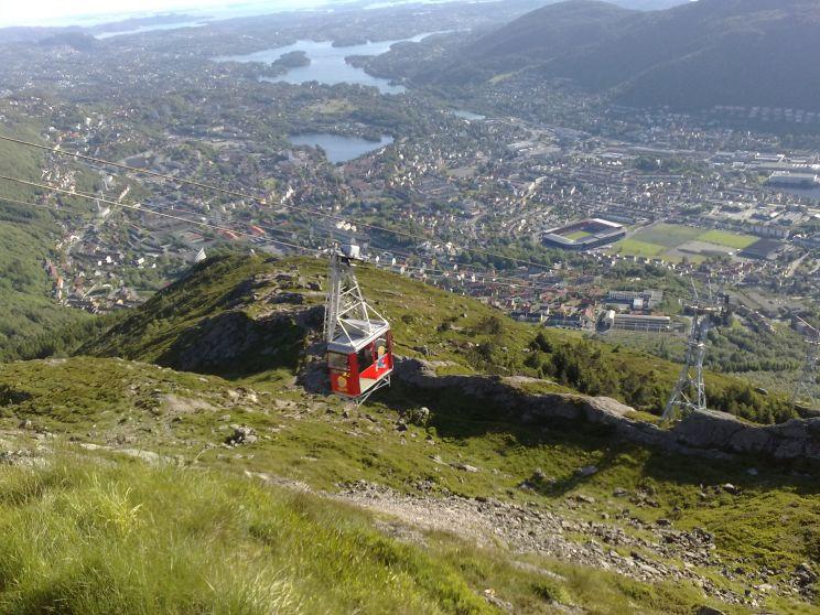 Areal cableway Ulriken Bergen