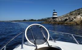 On a boat trip with family På båttur med familien