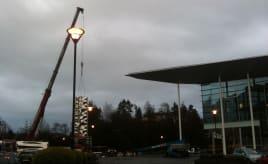 Bergen's tallest piece of art being setup|Bergens høyeste kunstverk settes opp