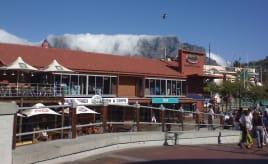 Fogged table mountain