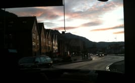 Sunrise from the bus|Soloppgang fra bussen
