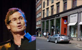 Rich guy parked on handicap-parking|Dårlig gjort mot Stordalen