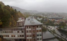 Grey day in Bergen.|Haukeland - Grå dag i Bergen men ikke inne.