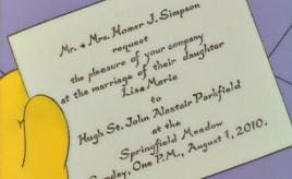 Wedded on the same day as Lisa Simpson|Gift på samme dag som Lisa Simpson