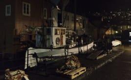 An evening at the wharf|Kveldstemning ved Sandviken motorklubb