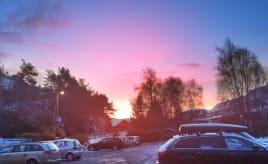 Lovely sky this morning Nydelig himmel i morges