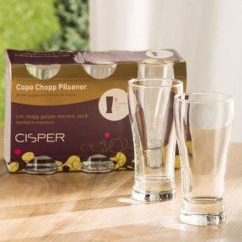 Set de 6 Vasos Tipo Chopp Pilsener-Transparente