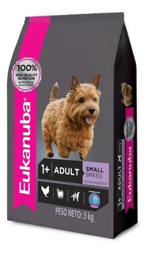 Alimento Eukanuba para perro adulto de raza pequeña sabor mix en bolsa de 3kg