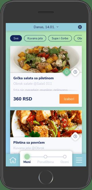 Mobilna verzija Office Bite veb-aplikacije