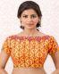 Orange Banglori Silk Readymade Designer Blouse