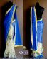 Blue Embroidered  Georgette Partywear Bollywood Replica Saree