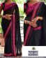 Black Georgette Embroidered Partywear Bollywood Replica Saree