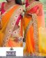 Multi Net Embroidered Partywear Bollywood Replica Saree