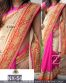 Pink Embroidered Partywear Bollywood Replica Saree