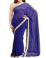 Bollywood Blue Embroidery Georgette Replica Saree