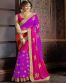 Bollywood Violet Embroidery Georgette Replica Saree