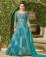 Blue Net Embroidered Partywear Gown