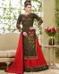Red Georgette Indo Western Lehenga Style Suit