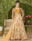 Orange Net Emrboidered Designer Partywear Gown