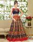 Navu Blue Bhagal Puri Silk Partywear Gown