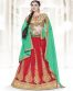 Parrot Green & Red Color Party Wear Lehenga Choli