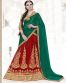 Green & Red Color Party Wear Lehenga Choli
