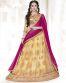Rani pink & Cream Color Party Wear Lehenga Choli