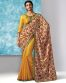 Yellow Colour Liva Pure Cotton Print Saree