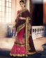 Brown Party Wear Saree With Zari Lace Work-6612