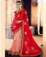 Red Wedding Wear Saree With Patch Work-6615
