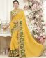 Yellow Georgette Party Wear Saree