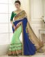 Sea Green And Blue Georgette Party Wear Saree