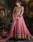Esteemed Pink Party Wear Anarkali Style Suit