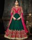 Beautifully Embroidered Pink Color Designer Silk And Georgette Anarkali Suit