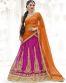 Orange & Rani Color Party Wear Lehenga Choli
