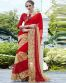 Red And Beige Marble Saree
