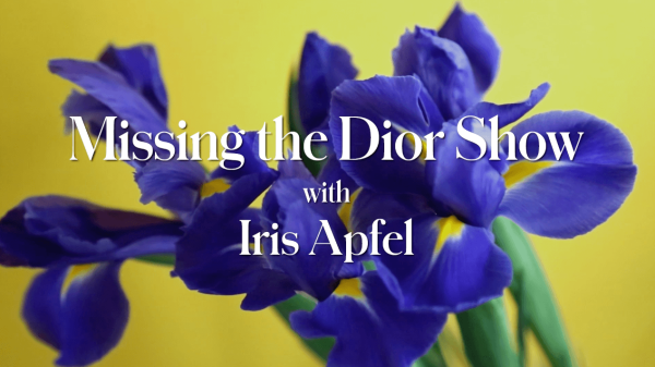 Missing the Dior Show with Iris Apfel