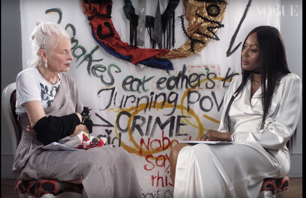 Naomi Campbell Meets Vivienne Westwood