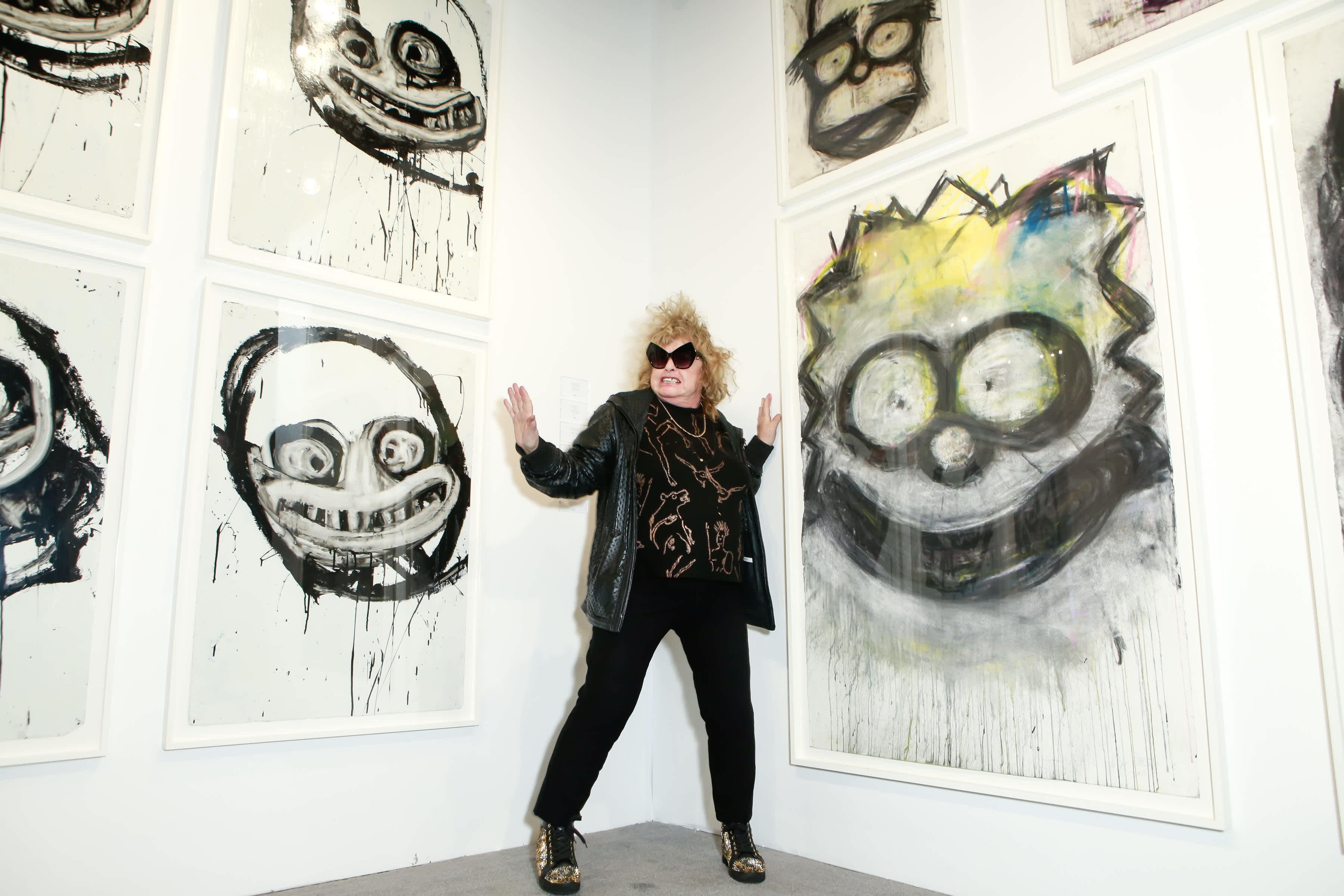 Joyce Pensato in the Studio
