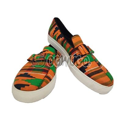 Ankara made Sneaker wear
